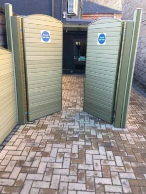New paving at Bar Forty Four, Perth