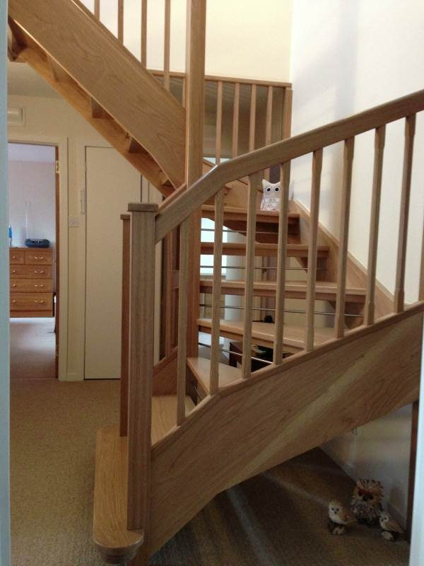 New timber staircase and bannisters