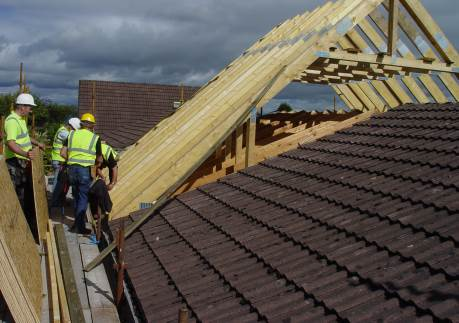Timber roof extension