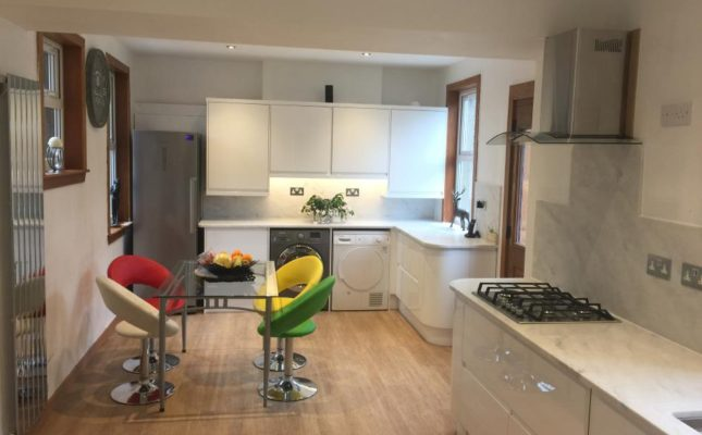 A brand new kitchen designed and installed by Meldrum
