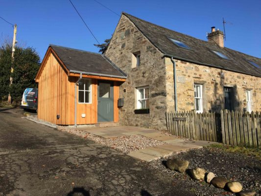 Inverbraan Cottage extension finished
