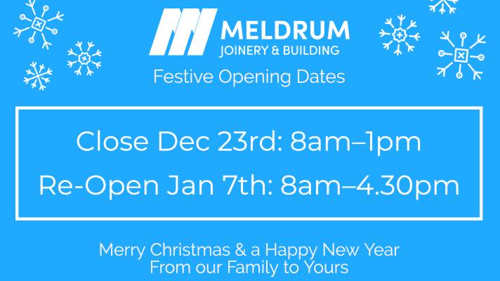 Festive Opening Dates