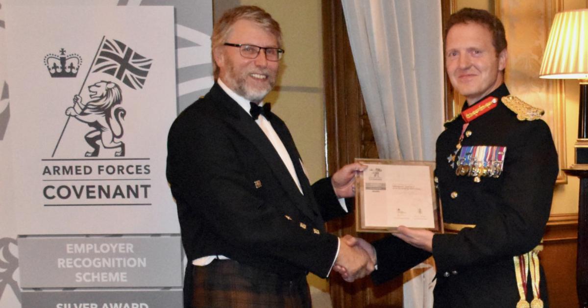 Silver Armed Forces Award Presentation